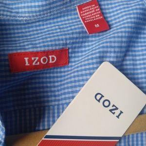 Men's Izod Blue Striped Buttondown Shirt